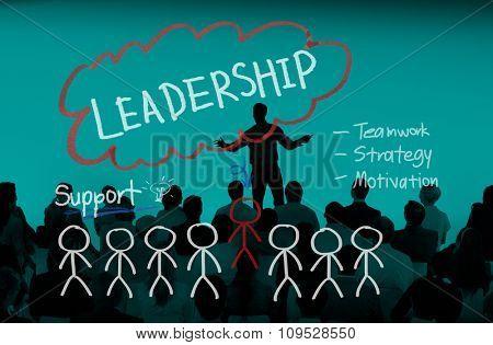 Leadership Teamwork Management Support Strategy Concept