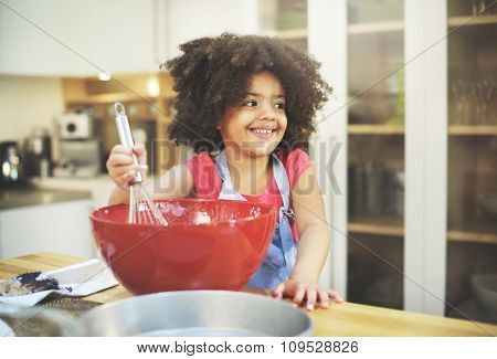 Children Cooking Happiness Activity Home Concept