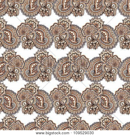 Decorative lace repeating pattern. Ornamental abstract background with eastern ornament