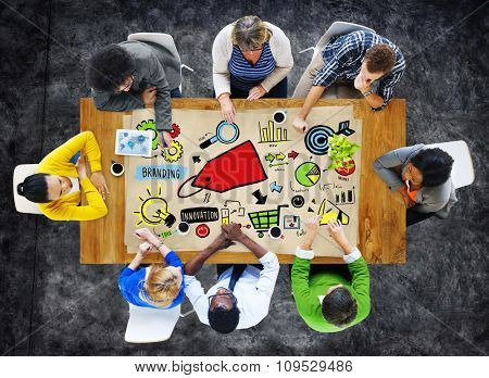 Diversity Casual People Branding Marketing Brainstorming Planning Concept