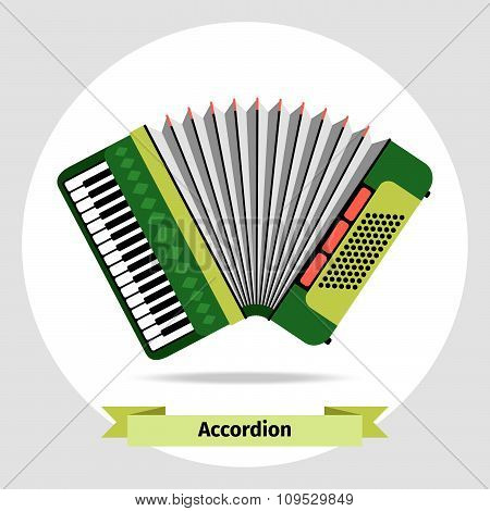 Musical instrument accordion