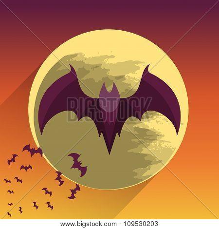 Bats on full moon