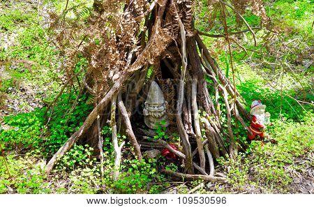 Gnomes in a Forest Tent: Gnomesville, Western Australia