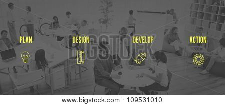 Strategy Startup Business Plan Desigh Action Ideas Concept