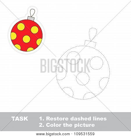 Glass ball to be traced. Vector trace game.