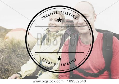 Backpacker Hiking Adventure Mountain Climbing Concept