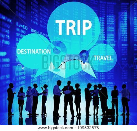 Trip Travel Destination Holiday Journey Concept