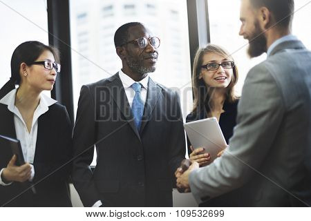 Business People Meeting Corporate Greeting Handshake Concept