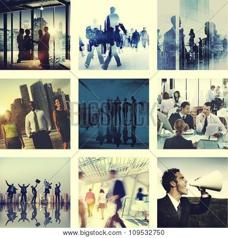 Business People Corporate Connection Greeting Collection Concept