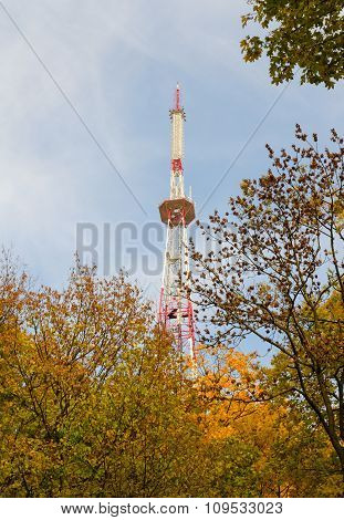 Television Tower On Sky Background