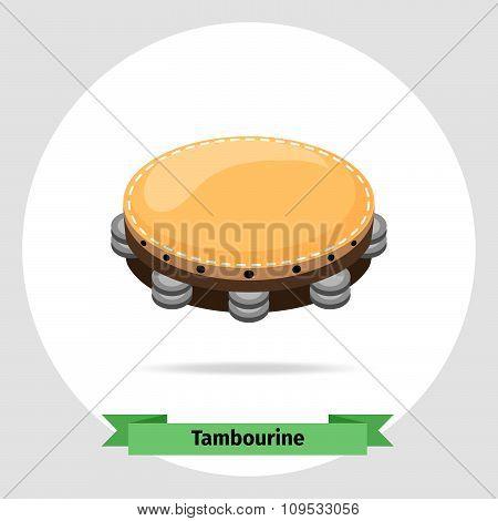 Musical instrument tambourine