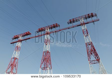 Three Support Power Lines