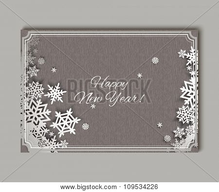 Christmas snowflakes. Creative Greeting Card. Vector background