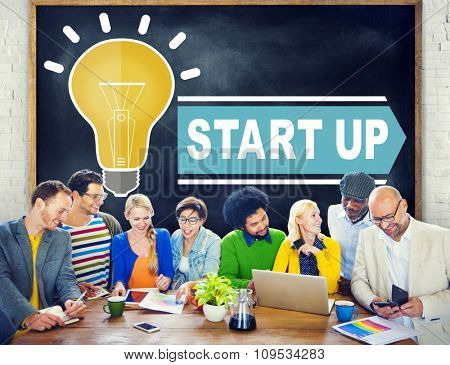 Start Up Growth Success Business Launch Concept