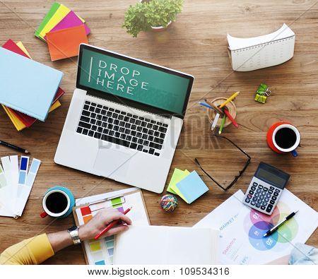 Design Creativity Laptop Technology Copy Space Concept