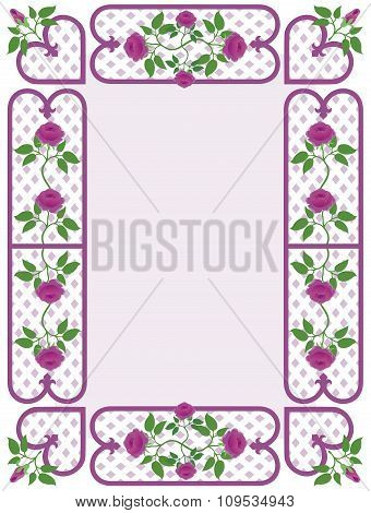 Charming Rosy Border
