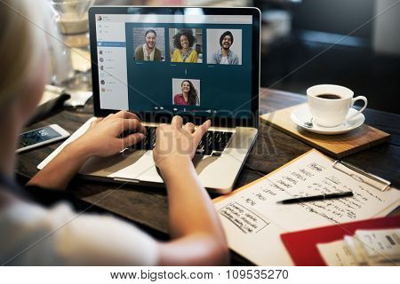 Video Call Facetime Chatting Communication Concept