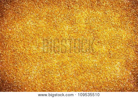 Gold dust with glitter