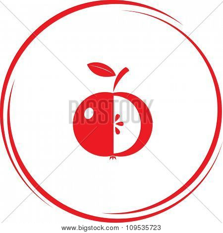 apple. Internet button. Raster icon.