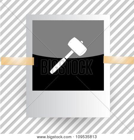 mallet. Photoframe. Raster icon.
