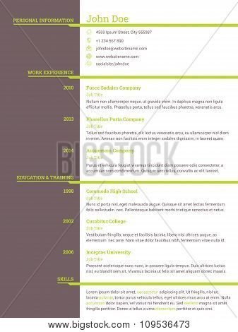 Modern Resume Cv Template For Job Seekers