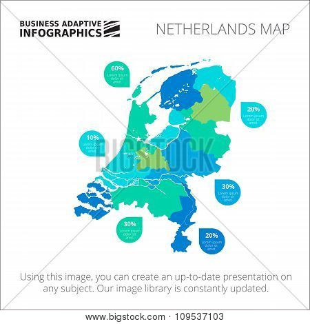 Netherlands map template 2