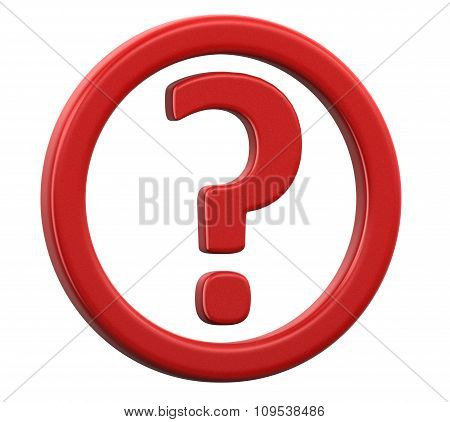 Question sign (clipping path included)