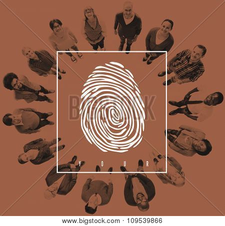 Fingerprint Identity Scanner Protection Verification Concept