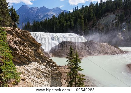 Wapta Falls in Yoho National Park in British Columbia, Canada.
