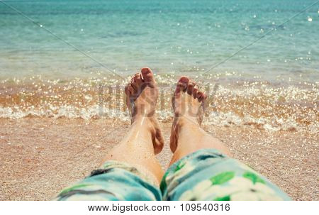 Relaxation on the beach