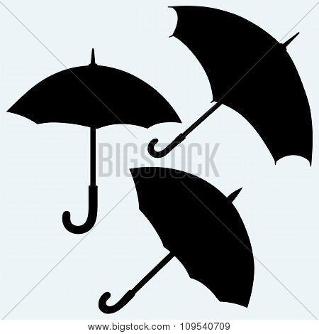 Set black umbrella