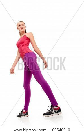 step of fitness woman full length
