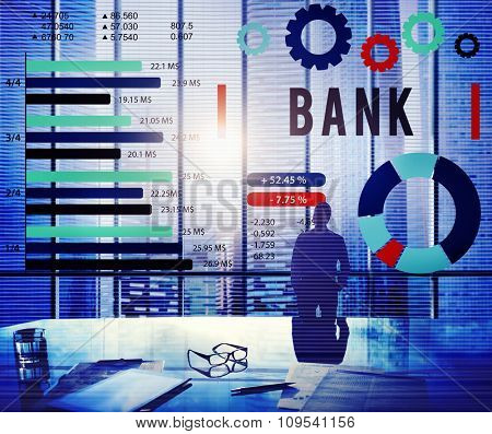 Bank Banking Finance Credit Money Concept