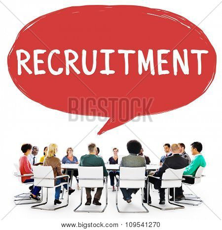 Recruitment Employment Hiring Human Resource Concept
