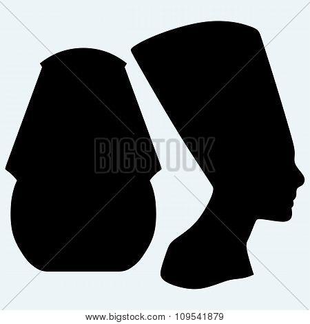 Portrait of Pharaoh and Nefertiti