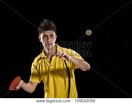 Table tennis player man