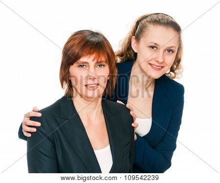 Portrait of Mother and her adult Daughter