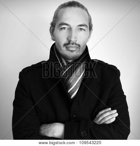 Closeup Studio Portrait Of Young Asian Man