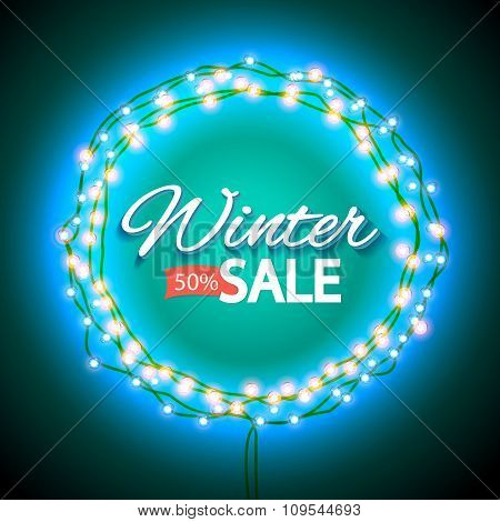 Winter sale lights frame