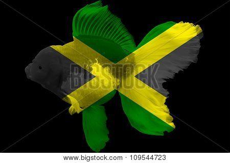 Flag of Jamaica on goldfish