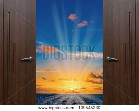 Dawn Door Open Ocean