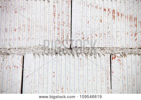 White wall of cement blocks for background