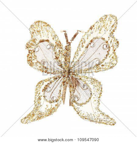 butterfly, glitter Christmas decoration