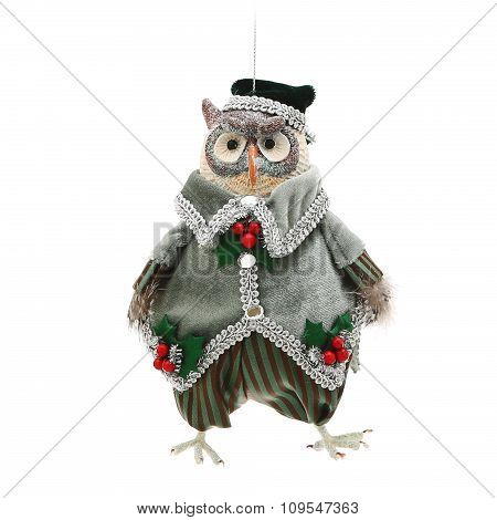 Christmas decoration. Figure of an owl