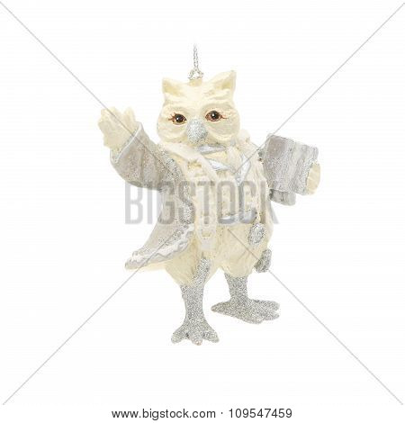 Christmas-tree decoration. Figure of an owl
