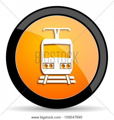 train orange icon