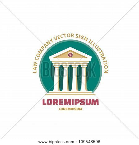 Law company vector logo concept sign illustration. The judge logo.