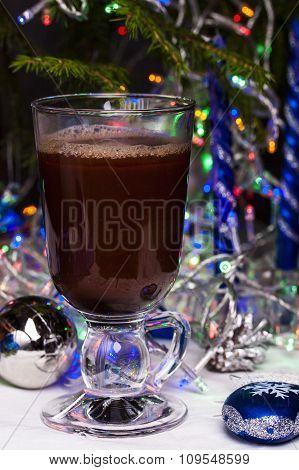 Hot Chocolate In A Tall Glass