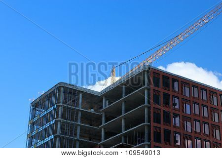 Modern Building Under Construction