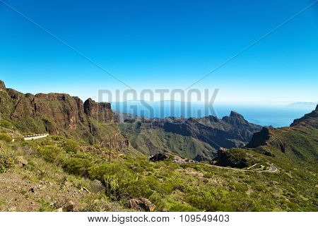 View of the mountains, the sky and the atmosphere in Tenerife, Canary Islands, Spain